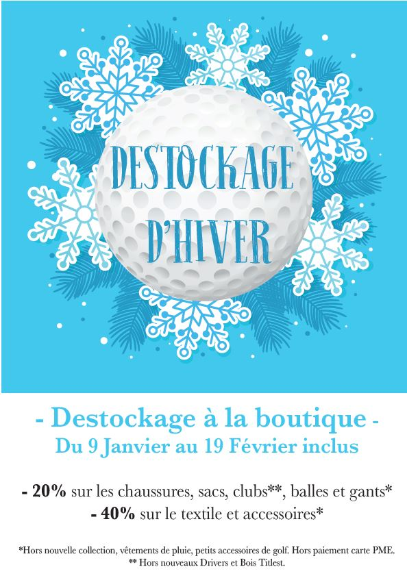 DÉSTOCKAGE A LA BOUTIQUE DU GOLF